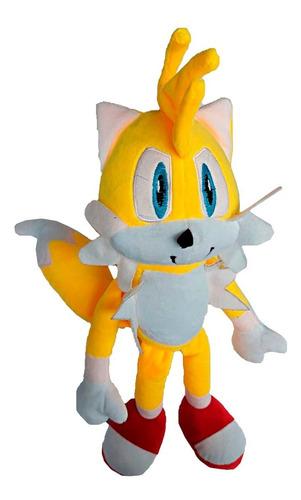 Peluche Muñeco Sonic Tails 42cm Amarillo Alto Felpa Suave