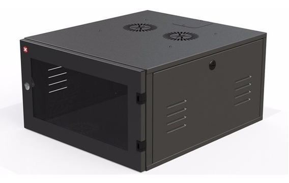 Rack 19 8u X 370mm Preto Parede Redes E Dvr Mf