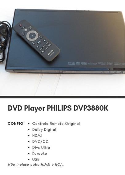 Aparelho De Dvd/cd/divx/karaoke Player Philips