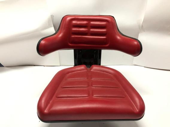 Asiento Universal Para Tractor Color Rojo Con Codera