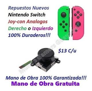 Analogos Repuestos Nintendo Switch Nuevos Joycon