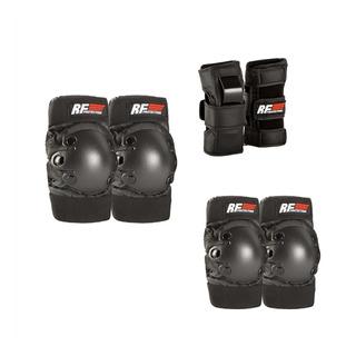 Set De Protección Para Patinaje Rollerface Negro/rojo