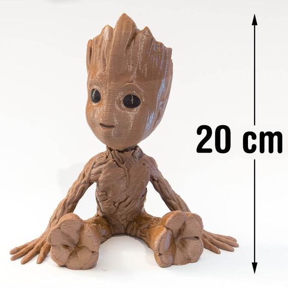 Boneco Baby Groot 3d (guardiões Galáxias) Cabeça Movel 20cm