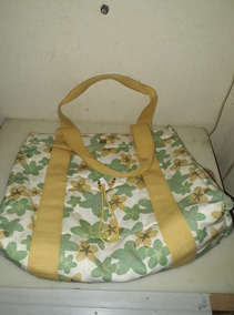 Bolsa Floral Verde Amarelo Chenson