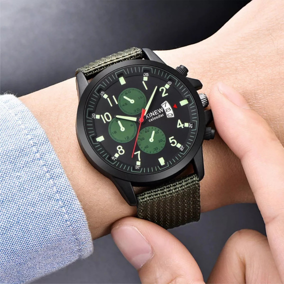 Relógio De Pulso Militar Masculino Frete Grátis Todo Brasil!