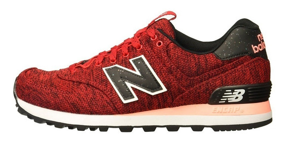 Zapatillas New Balance Wl574 Urbanas Mujer Roja