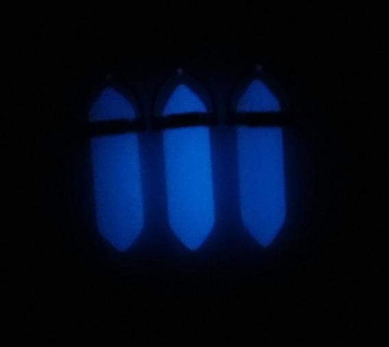 Colar Fluorescente Pedra Da Lua Brilha No Escuro !!!lindo!!!