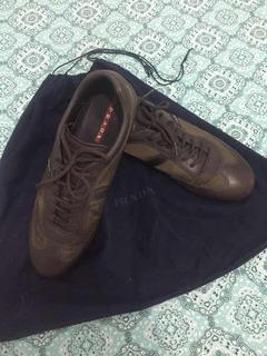 Tênis Prada - Sneaker - Na Cor Marrom Tamanho 44/ Br 11/ Eua