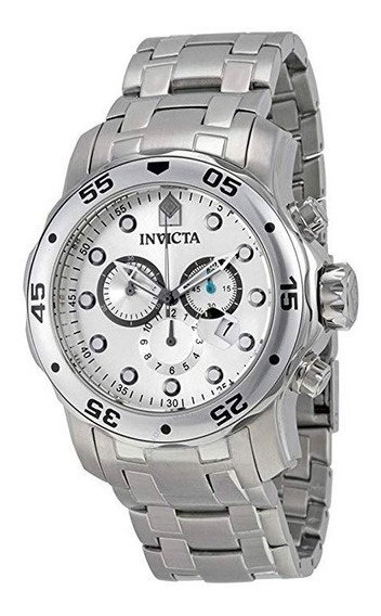 Elegante Reloj Invicta 0071 Pro Diver Color Plata New 12msi