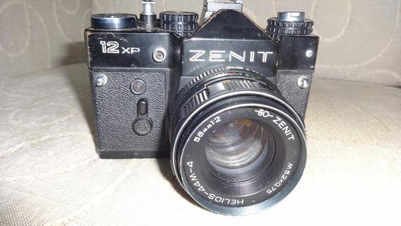 Câmera Zenit 12xp Vintage, Com Lente