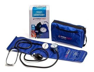 Brazalete Manual Presión Sanguínea Profesional Azul Paramed