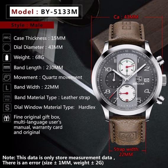 Relógio Masculino Benyar Original Pronta Entrega Modelo 5133