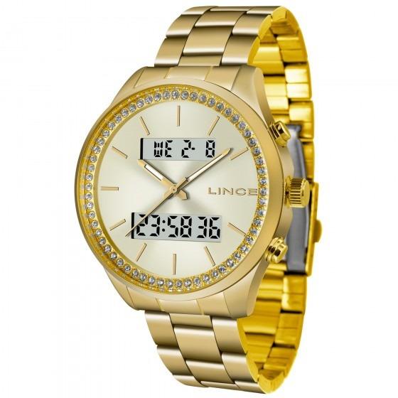 Relógio Lince Dourado Lag4591l C1kx Feminino - Refinado