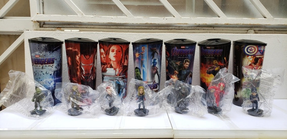 Cinemex Vasos Avengers End Game Con Figuras Vengadores