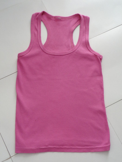 Remera Musculosa Para Dama - Color Fucsia - Talle S