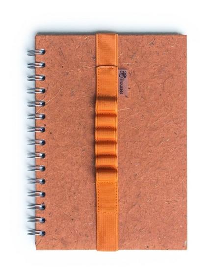 Elástico Escolar Para Caderno A5 Laranja