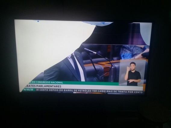 Tv. Samsung 49j5200ag Com A Tela Quebrada.