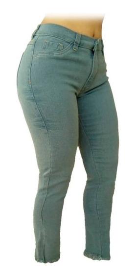 Jeans Pantalon Dama Corte Alto Strech A La Moda