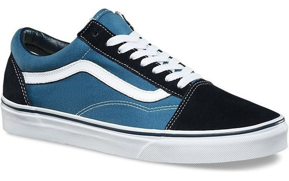 Tenis Vans Old Skool Navy Originales Vn000d3hnvy Full