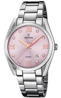 Reloj Festina Dama Cristal Rosado F16790.d + Envio Gratis