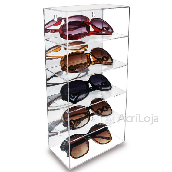 Expositor Suporte De Oculos Em Acrílico De Parede E Mesa