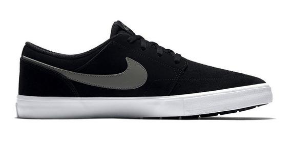 Tênis Nike Sb Portmore Ii Preto E Cinza Solar 9864 Original