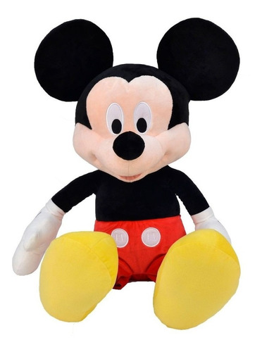 Imagem 1 de 6 de Boneco Pelucia Mickey Mouse C/ Som Disney 33cm Urso Bicho