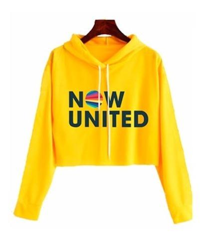 Moletom Cropped Infantil Now United Blusa Casaco Meninas #