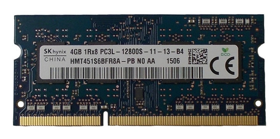 Memória Skhynix 4gb Ddr3 1600mhz Pc3l 12800s 1rx8 P Notebook