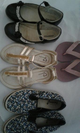 Kit De Sapatos E Sandálias Infantis Femininas