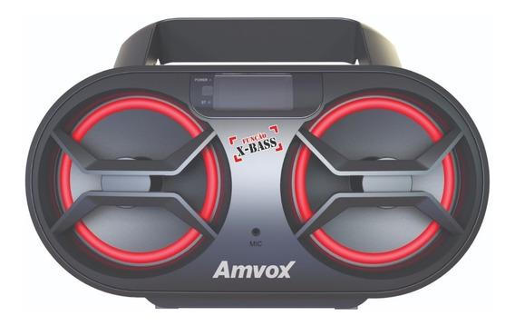 Rádio Portátil Amvox Boombox Cd Mp3 Rádio Fm 15w Amc 590 New