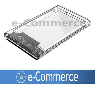 Case Usb 3.0 Transparente Enclosure 2.5 Sata Disco Duro