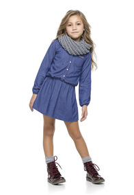 Vestido Jeans Manga Longa Infantil Quimby