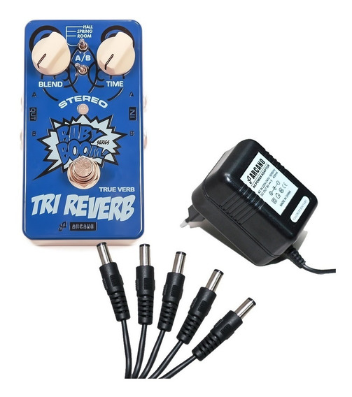 Kit Arcano Pedal De Efeito True-verb + Fonte Arc-adp9v