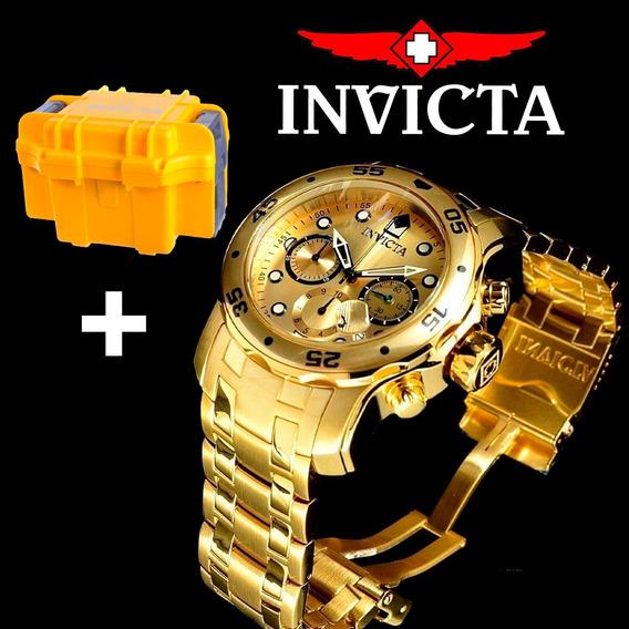 Invicta Pro Diver 0074 Ouro 18k Scuba Masculino + Caixa + Nf