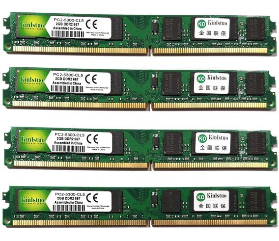Kit 4 Memórias Ddr2 667mhz 2gb + 5 Mouse