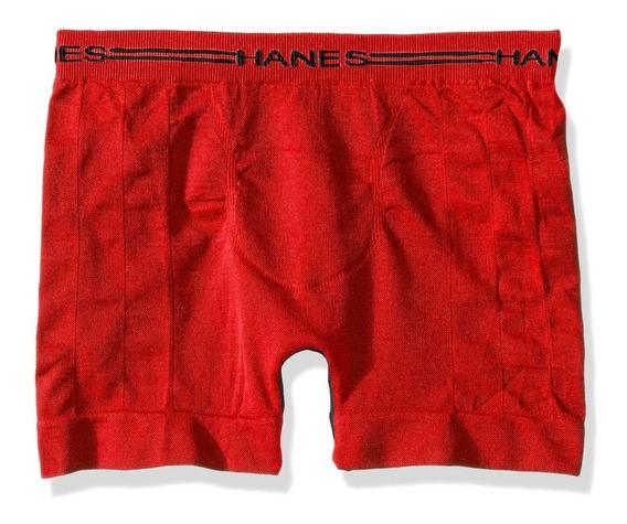 Hanes Boxer Seamless Sin Costuras Para Niño-rojo