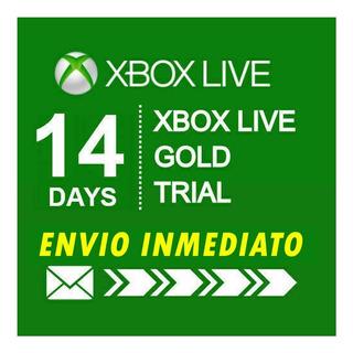 Xbox Live Gold 14 Dias Membresia Mundial Prueba Renovacion