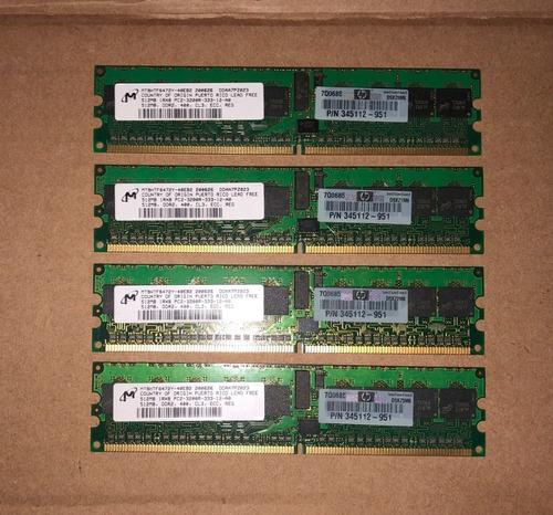 Memória Micron 512mb Mt9htf6472y-40eb2 4 Unidades