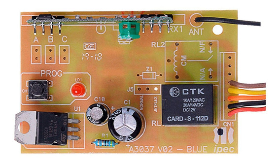 Receptor Code Learn Ipec 433 Mhz Mono Custom Controle Remoto