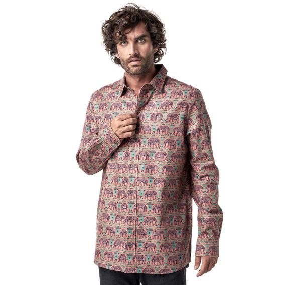 Camisa Hombre Haka Honu Lazlocalifornia Naranja I19