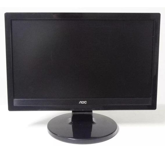 Monitor Aoc 1619swa 15.6 Widescreen Lcd Som Embutido