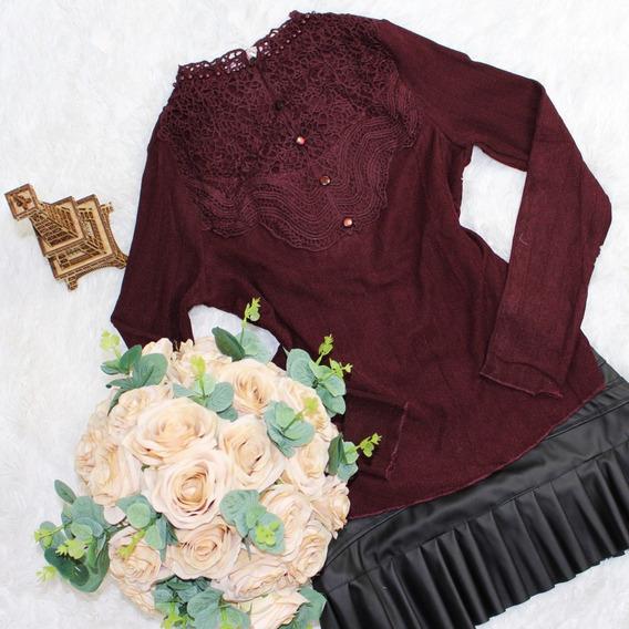 Blusa Camisa Camiseta Feminina Luxo Alfaiataria Renda 2520