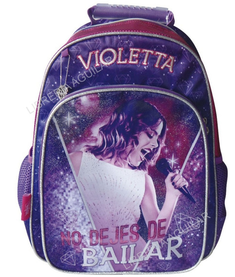 Mochila Grande Espalda Violeta Original