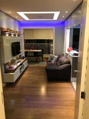 Apartamento Com 2 Dormitórios À Venda, 62 M² Por R$ 530.000,00 - Vila Ema - São Paulo/sp - Ap2851