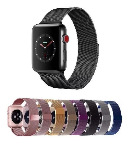 Correa Extensible Malla Acero Inoxidable Apple Watch 1 2 3 4