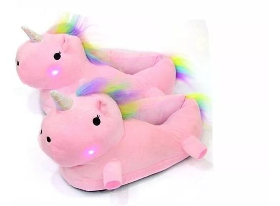 Pantuflas Unicornio Importadas Luces Led