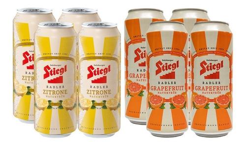 8 Pack De Cervezas Austriacas Stiegl Radler De 500 Ml
