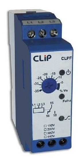 Relé Falta De Fase Clip Modelo Clpf440vca