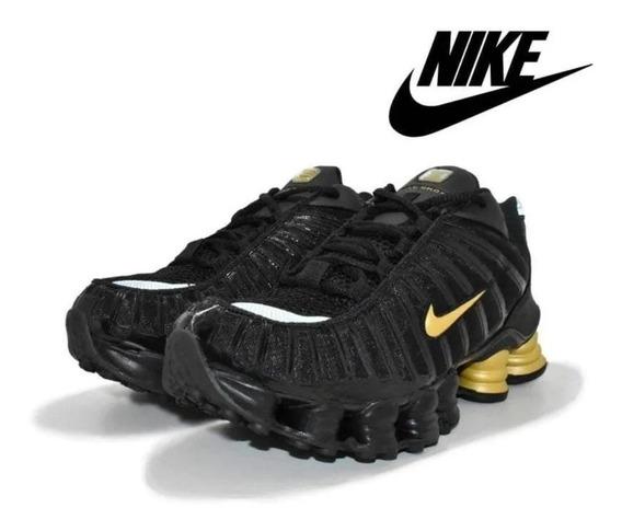 Tênis Masculino Nike Shox 12 Molas Tl Original - Preto